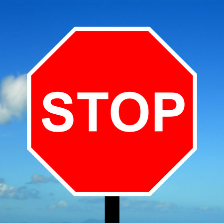 Stop and give way traffic sign photo