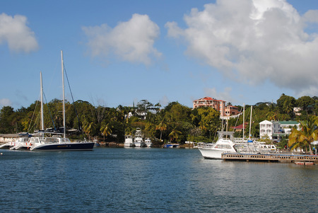 st lucia: Castries Harbour in St Lucia Editorial