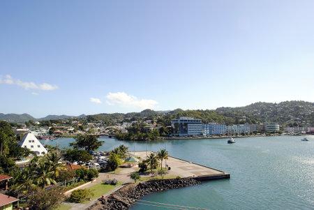 st lucia: Castries harbour St Lucia