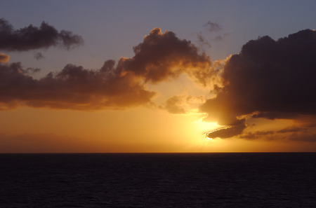 st lucia: Sunset in St Lucia