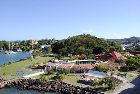 st lucia: Castries cruise ship terminal St Lucia