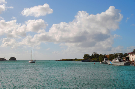 st lucia: Castries Harbour St Lucia Stock Photo