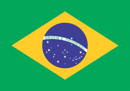 e 27: An image of the national flag of Brazil Stock Photo