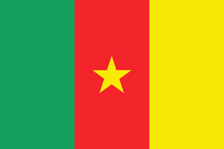 cameroon: Cameroon Flag Stock Photo