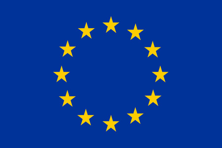 An image of the national flag of Europe photo