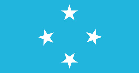 federated: Federated States of Micronesia Flag Stock Photo
