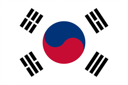 trigram: South Korea Flag Stock Photo