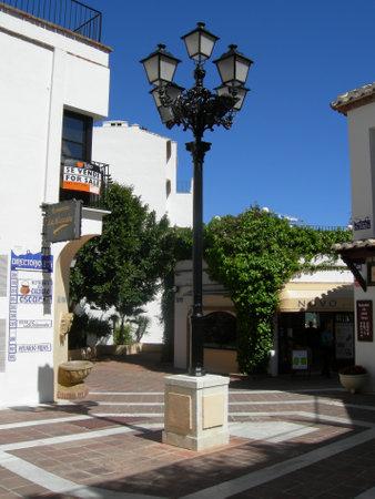 'costa del sol': Street lantern in Mijas Costa Del Sol Spain