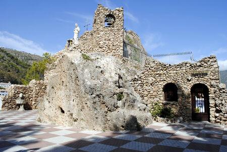 pena: Ermita de la Virgen de la Pena Mijas Stock Photo