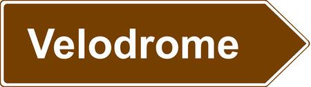 velodrome: Velodrome tourist sign Stock Photo
