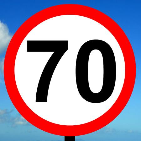 mph: 70 mph speed limit sign