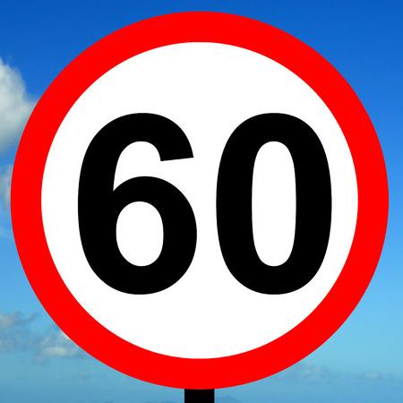 mph: 60 mph speed limit sign