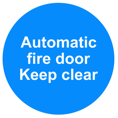 Automatic fire door sign photo