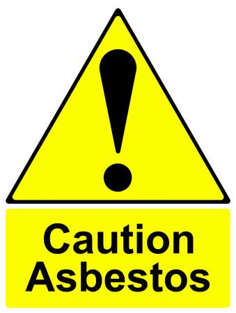 do not enter warning sign: Caution asbestos sign Stock Photo