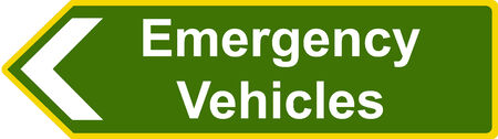 diverted: Emergency vehicles sign