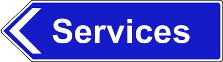 deceleration: Final sign for service area motorway sign