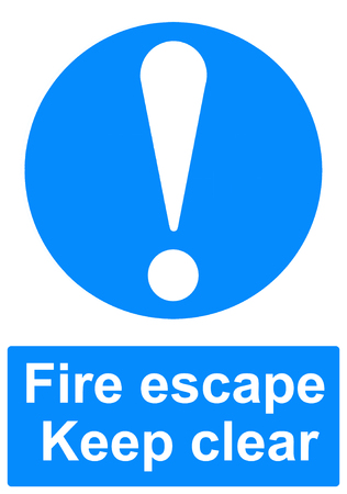 uncluttered: Fire escape sign