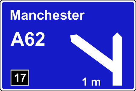 mile: Motorway 1 mile advance sign