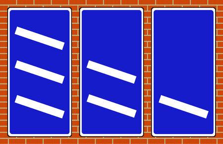 deceleration: Motorway countdown markers