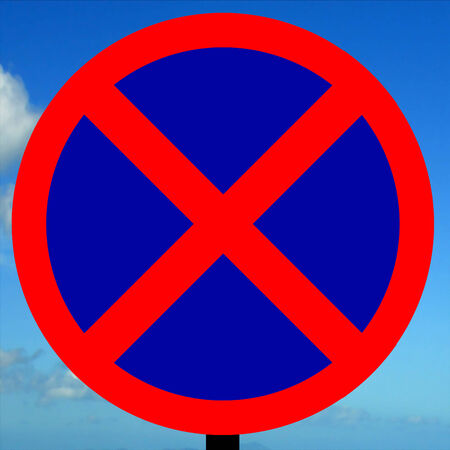 stopping: No stopping sign