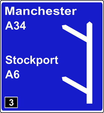 deceleration: Two junctions in quick succession motorway sign