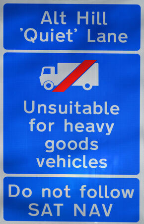 unsuitable: Unsuitable for heavy goods vehicles