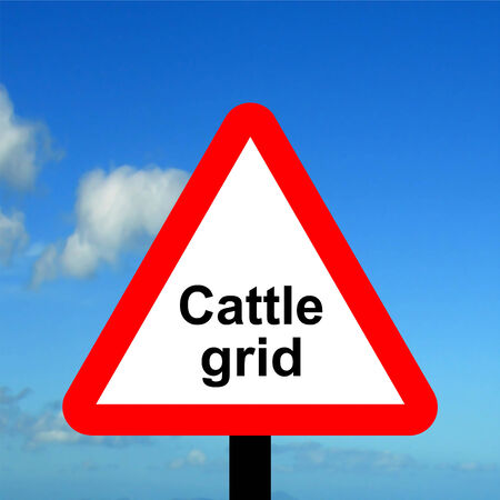 cattle grid: Warning triangle Cattle grid
