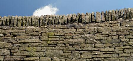 drystone: Drystone wall in Derbyshire Stock Photo