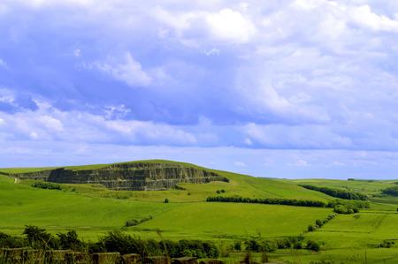 derbyshire: Edale in Derbyshire, England UK