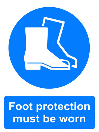 Foot protection must be worn photo
