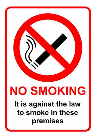 prohibido fumar: No fumar signo  Foto de archivo