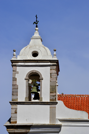 barlavento: Santa Maria Church bell tower in Lagos Stock Photo