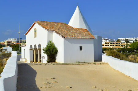 rocha: The Chapel of Nossa Senhora da Rocha Stock Photo