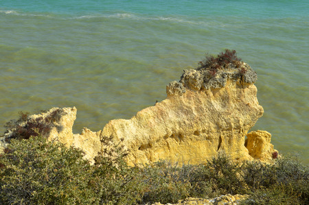 barlavento: Spectacular cliffs, Senhora Da Rocha Beach on the Algarve in Portugal
