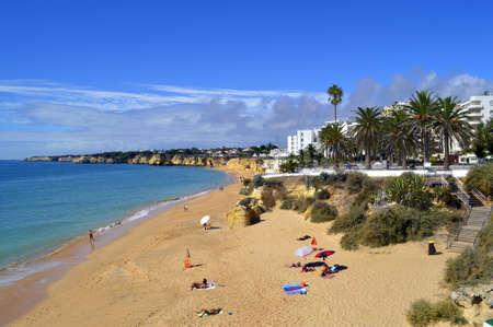 armacao: Armacao De Pera Beach on the Algarve Stock Photo