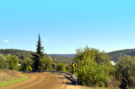alte: Mountain road in Alte countryside Portugal