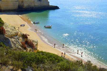 Senhora Da Rocha Beach in Portugal 版權商用圖片