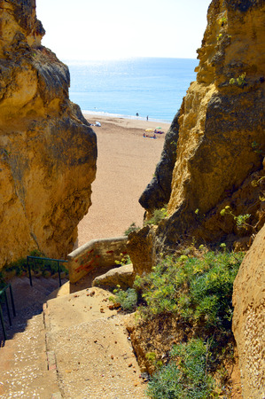 barlavento: Steps down to Senhora Da Rocha Nova Beach in Portugal