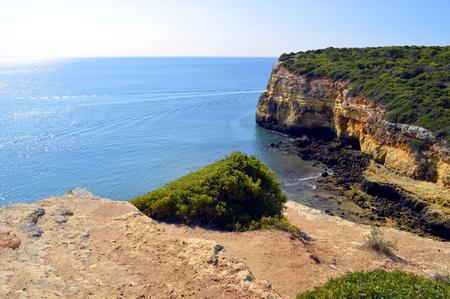 barlavento: Spectacular cliffs in Senhora Da Rocha in Portugal Stock Photo