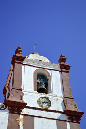 clock of the moors: Silves Cathedral bell tower in the Algarve, Portugal