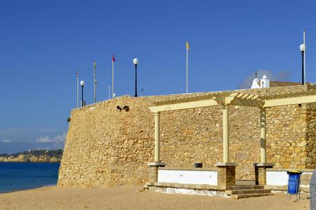 armacao: Armacao De Pera Fort on the Algarve Stock Photo