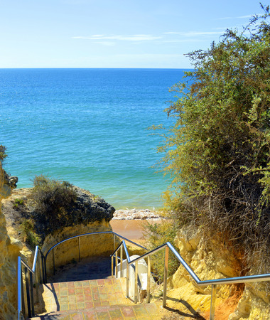 barlavento: Steps down to Armacao De Pera Beach on the Algarve