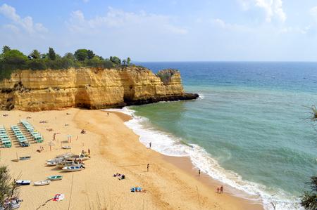 senhora: Senhora Da Rocha Beach in Portugal Stock Photo