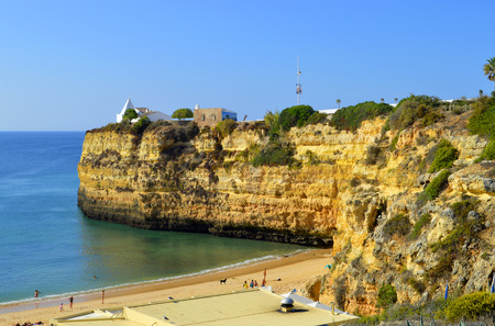 senhora: Senhora Da Rocha Beach in Portugal Stock Photo