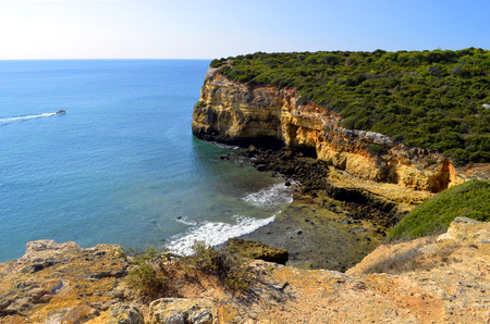 senhora: The Cliffs at Senhora Da Rocha, Nova Beach on the Algarve, Portugal