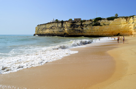 barlavento: Senhora Da Rocha Beach in Portugal Stock Photo