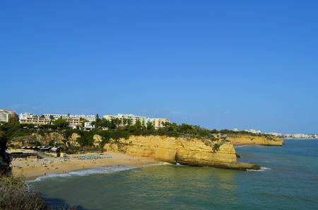 barlavento: The fishing village, Senhora Da Rocha Beach on the Algarve in Portugal