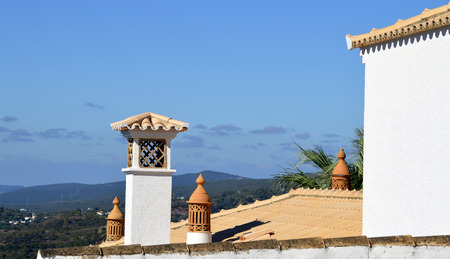 typical: Typical Portuguese chimney pots