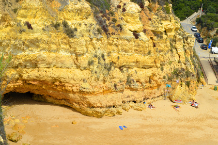 barlavento: Senhora Da Rocha Beach on the Algarve in Portugal