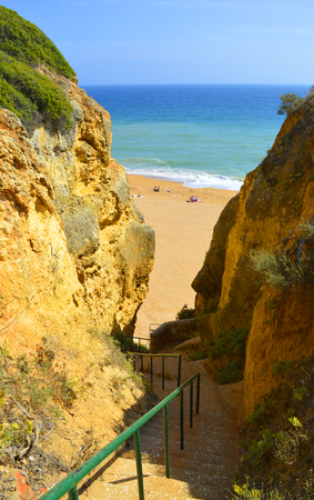senhora: Steps down to Senhora Da Rocha Nova Beach in Portugal